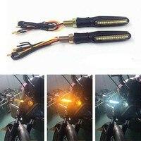 PAAR LED COB 12V MOTORRAD BLINKER ANZEIGE SIGNAL PFEIL LICHT SEQUENTIELLE HD810 auf