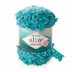 Пряжа Alize 'Puffy Fine Ombre Batik' 500гр. 73м. (100% микрополиэстер) (7246 бирюзовый)