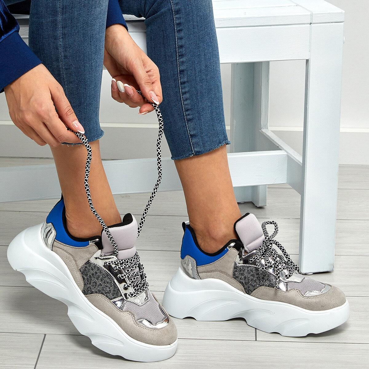 FLO Women Sneaker Shoes New Platform Ladies Sneakers Breathable Women Casual Shoes Woman Fashion Height Increasing Shoes BUTIGO 19SF-2054