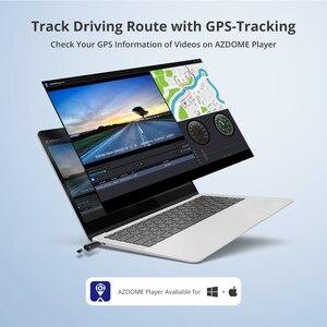 "Image 4 - AZDOME GS63H 4K 2160P Dash kamera WiFi dahili GPS araba Dashboard kaydedici 2.4 ""LCD, WDR, gece görüş, destek arka kamera"