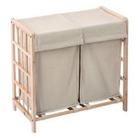 Laundry basket Beige 119925|Foldable Storage Bags|Home & Garden -
