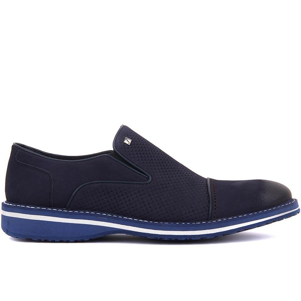 Fosco-Navy Blue Nubuck Men Casual Shoes