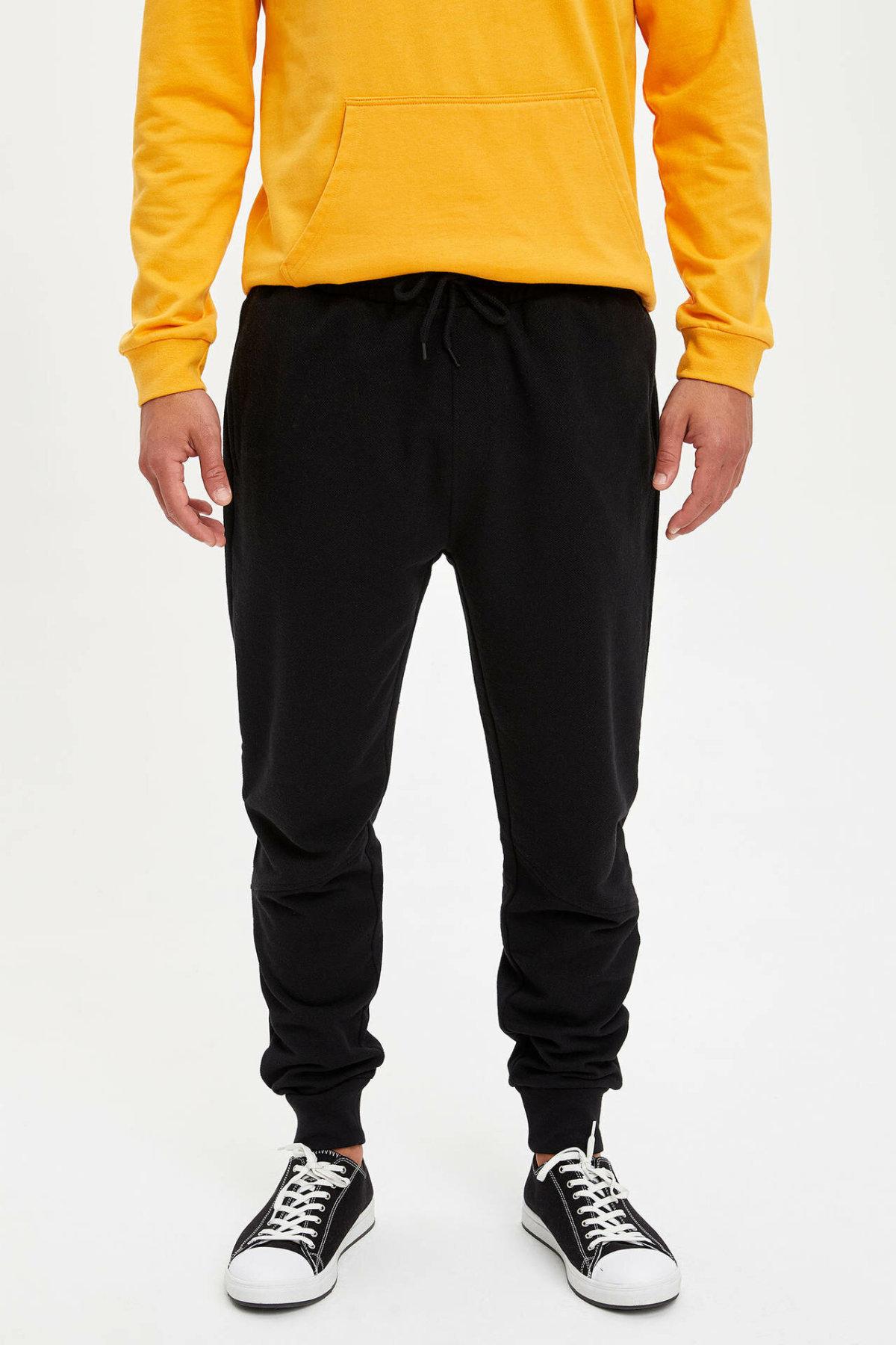 DeFacto Fashion Sport Pant Men's Solid Casual Drawstring Long Pants Jogging Sweatpants Male Simple New - L7094AZ19AU