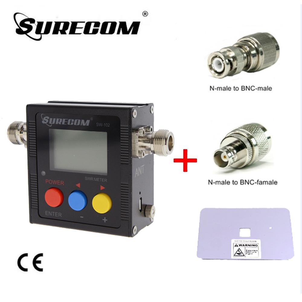 SURECOM SW-102 N Frequency Counter And Power Meter + ADAPTOR X2  + Ground Plate