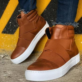 Chekich Boots for Men Winter Shoes Snow Boots Shoes Boot Men #8217 s Fashion Plus Size Sneakers Ankle Men Shoes Made in Turkey tanie i dobre opinie YT HG Podstawowe TR (pochodzenie) Sztuczna skóra Dla dorosłych latex Flanelowe Okrągły nosek Buty Korka Zima Niska (1 cm-3 cm)