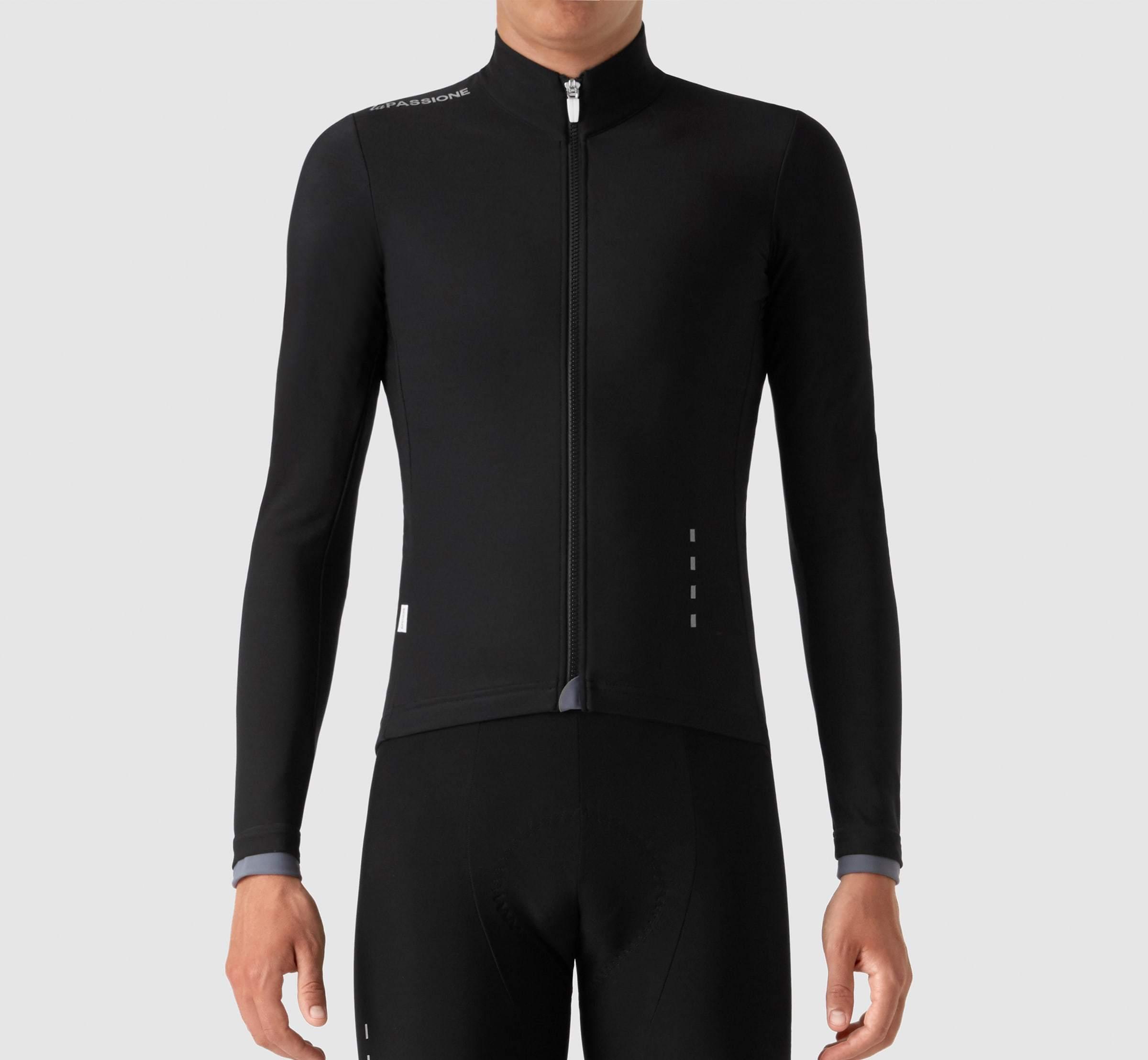 Winter Cycling Jersey Warm Long Bib Bike Fleece MTB Shirt Top Jacket Clothing