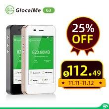 GlocalMe G3 4G موزع إنترنت واي فاي 150Mbps LTE لاسلكي مفتوح موبايل هوت سبوت أسود بنك طاقة عالي السعة 1GB البيانات الأولية العالمية سيم الحرة