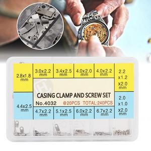 10 размеров в ассортименте, детали для часов, Стальные Ремешки для часов, крепежный адаптер, закрепляющие винты, высококачественные инструме...