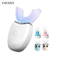 Cepillo de dientes eléctrico sónico, 360 grados, en forma de U, 4 modos, carga por USB,