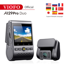 A129 Pro Duo VIOFO 4K Dual Dash Cam Ultra HD 4K for Road Front Newest 4k DVR 2019 car camera with HK3 super nigjt vision
