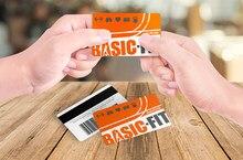 O pessoal feito sob encomenda do pvc do gym cartões de identificação plástico negócio cartão de nome 0.76mm espessura moq 5 pces