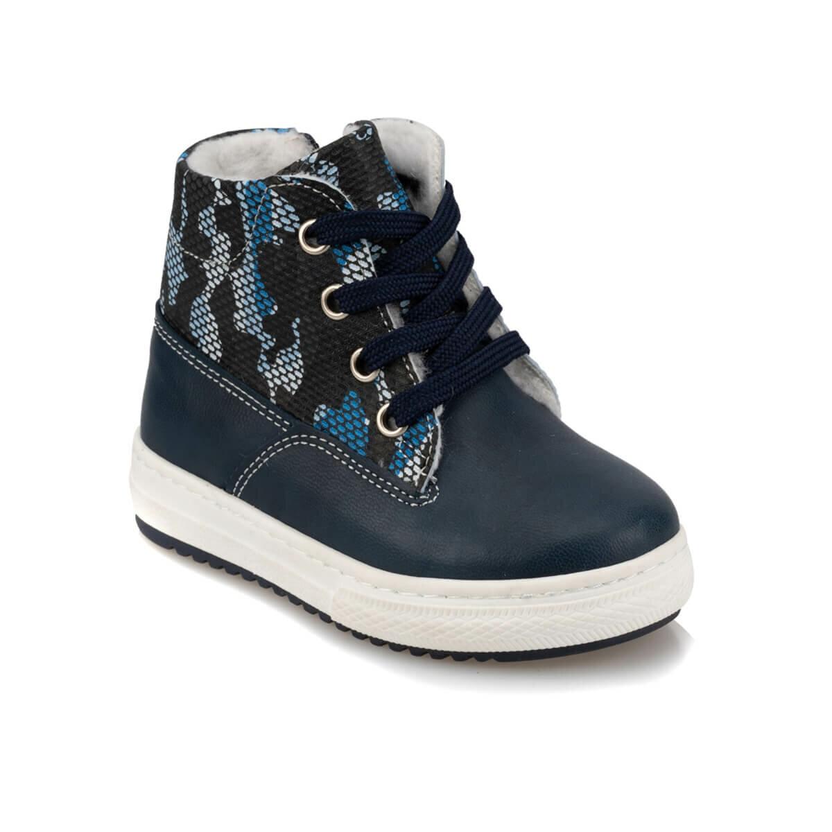 FLO 92.511729.B Navy Blue Male Child Boots Polaris