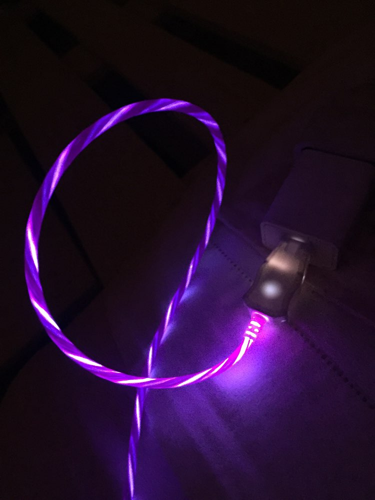 LED Flash Light USB Charger glowing Cable For iPhone 6 6s 7 8 Plus Xs Max XR X 10 5 5s SE iPad Mini 2.4A Fast Charging Wire Cord|Mobile Phone Cables| |  - AliExpress