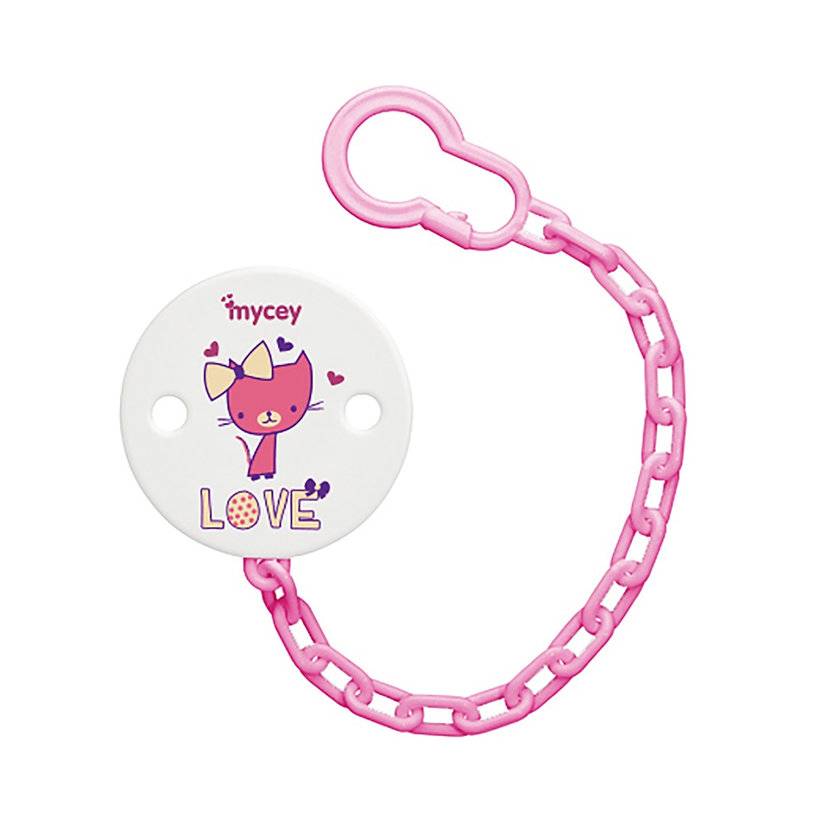 Ebebek Mycey Love Baby Soother Chain Holder