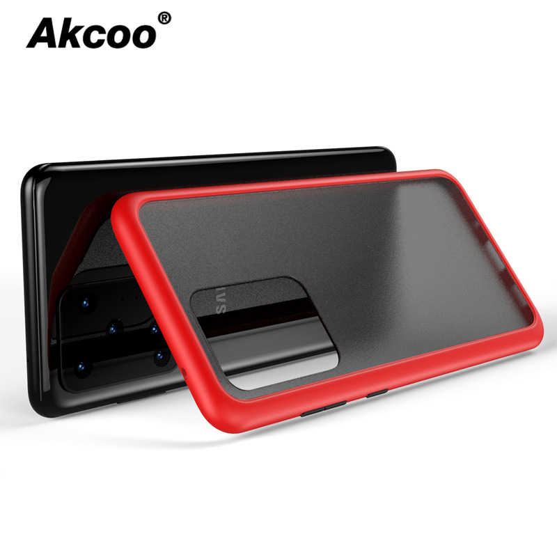Akcoo for Samsung Galaxy S20 Ultra Case 6 Colors Translucent Matte Case with Soft edges shockproof Protective cover for S20 Plus