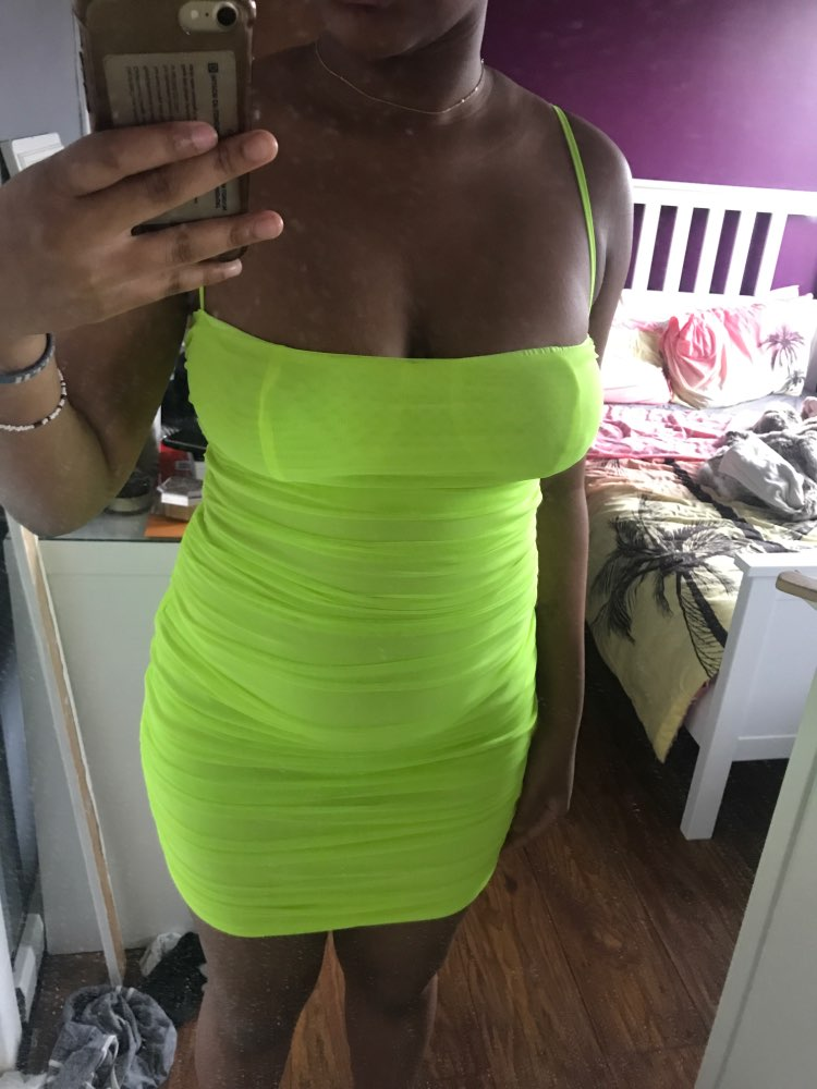 Double Layers Mesh Summer Dress Women Spaghetti Straps Bodycon Ruched Dress Woman Party Night Club Dress Sexy Robe photo review