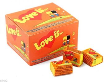 Miłość jest bańka guma do żucia ananas pomarańczowy prezent walentynkowy urodziny komiksy najlepsze darmowe SHİPPİNG tanie i dobre opinie Mężczyzna 12 + y HK (pochodzenie)