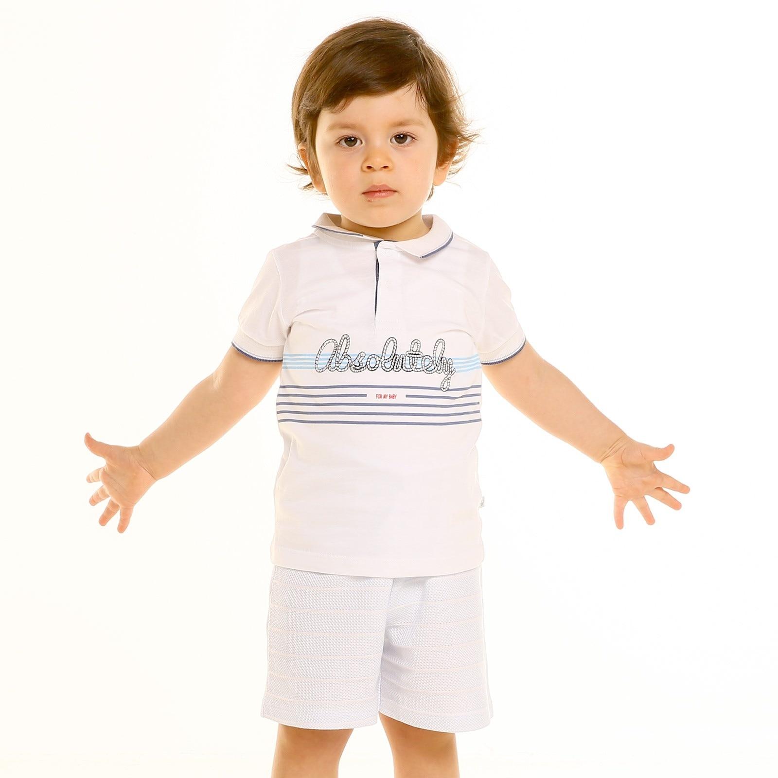 Ebebek For My Baby Boy Marin Polo Neck Tshirt Short Set