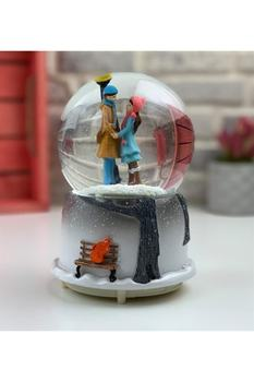 Street Lamp Under Hand In Inflammable Romantic Aşıkla Luminous Musical Snow Globe souvenirs Turkish made Fast shipping