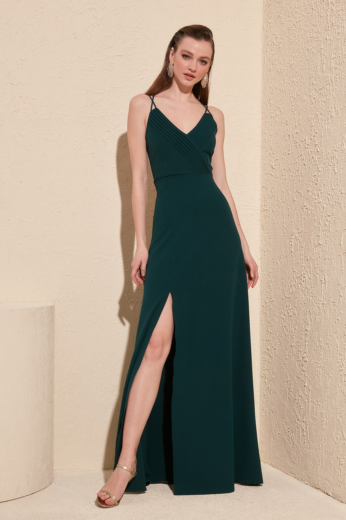 Trendyol Rib Detail Evening Dress & Prom Gown TPRSS20AE0050