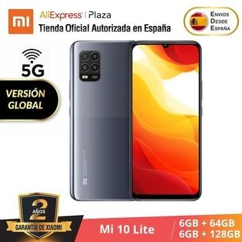 Купить Xiaomi Mi 10 Lite 5G (64 ГБ, 6 Гб RAM/128 ГБ, 6 ГБ RAM Android Nuevo Móvil) [Teléfono Móvil Versión Global] mi10lite