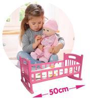 Crib Cradle Baby Pink Bed Furniture for 50 cm Reborn Doll Kids