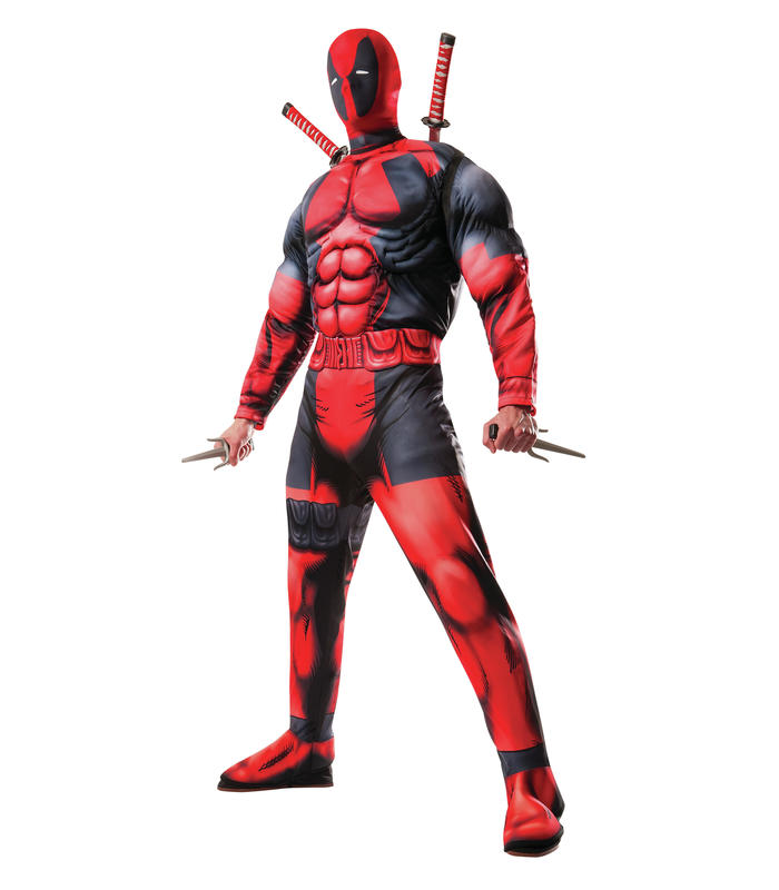 Deadpool Costume Deluxe Ad Std Toy Store