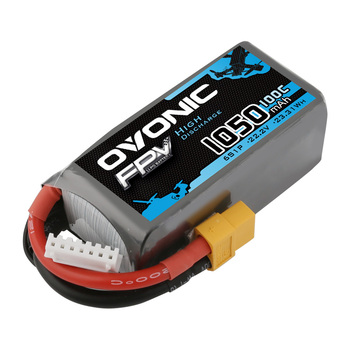 OVONIC 1050 MAh Lipo Battery 22.2 V 6S 100C RC With XT60 Plug For FPV Racing Drone Quadcopter