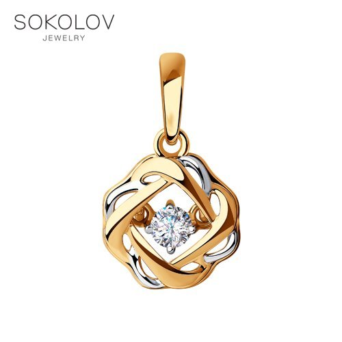 Pendant SOKOLOV Gold Fashion Jewelry 585 Women's Male