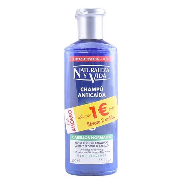 Anti-Hair Loss Shampoo Ginseng Naturaleza Y Vida (300 Ml)