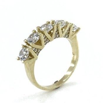 Diamant Afwerking 8 K Gold Bikkel Ring