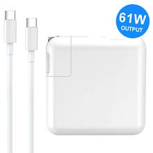 61W USB C Mac Book Charger Power Adapter Type C PD Charger for MacBook Pro MacBook Air HP Spectre Dell XPS Matebook Laptop gan 65w 45w pd usb c type c phone laptop charger power adapter for macbook asus zenbook lenovo dell xiaomi air hp sony power