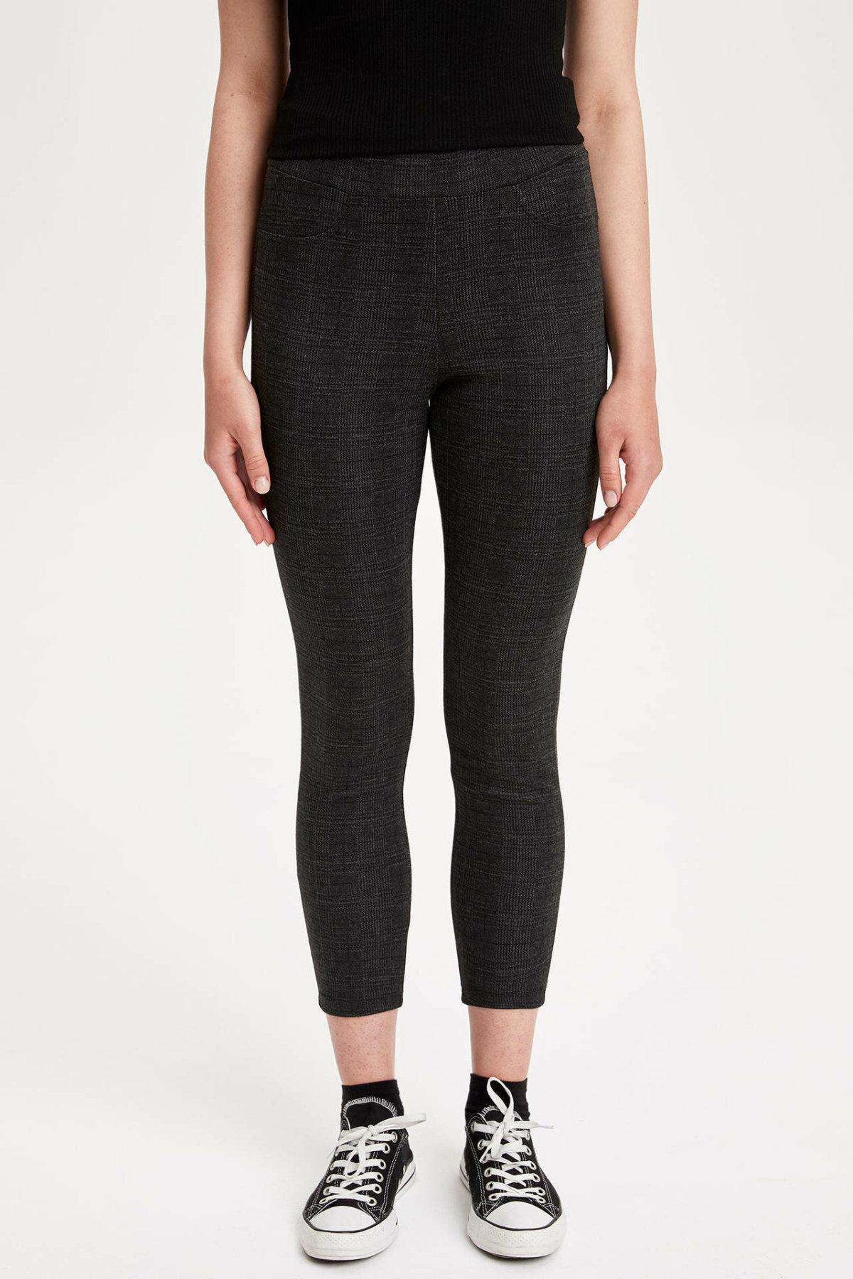 DeFacto Woman Trousers Women Autumn Black Capri Pants Skinny Slim Adjustable Pants For Autumn Women Bottoms-K6584AZ18AU