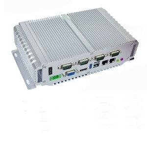 X86 ordinateur embarqué 4G ram 64G rom VGA GPIO Quad Core pare-feu 2 LAN J1900 CPU avec fente pour carte Sim Port parallèle série Mini PC
