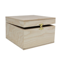 F 45 Wood billet plywood casket 16*15*10 cm Aster