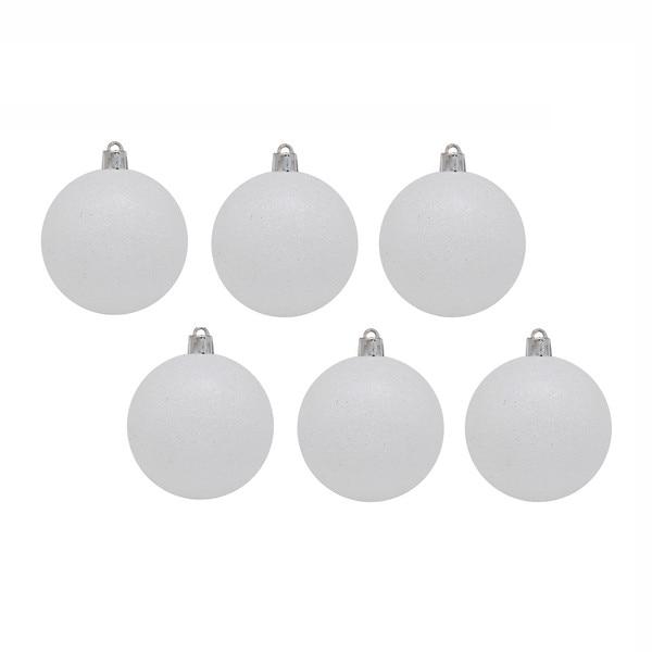Елочная игрушка шар белый 6 шт, 6 см Snowmen Е0028|Декоративные шары| | АлиЭкспресс