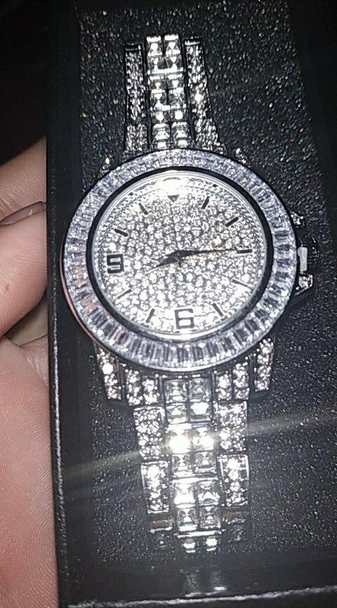 -- Relógios Topgrillz Baguette