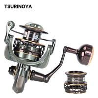 TSURINOYA Fishing Reel Jaguar 4000 5000 Double Spool Carp Reel 9+1BB 5.2:1 Fishing Lure Spinning Reel Saltwater Feeder Reel
