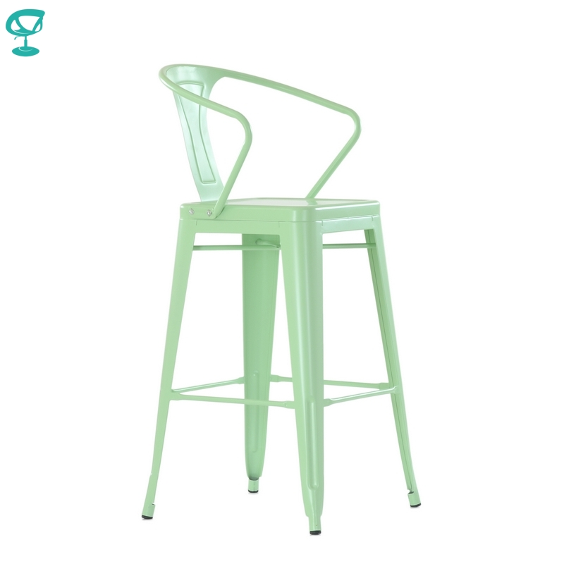 N243RAL Barneo N-243 High Metal Kitchen Breakfast Interior Stool Bar Chair Kitchen Furniture 14 Colors Free Shipping In Russia