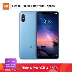[Wersja globalna dla hiszpanii] Xiaomi Redmi Note 6 Pro (pamięci wewnętrzne de 32 GB, pamięci RAM de 3 GB, bateria 4000, Cuatro camaras con IA) 4