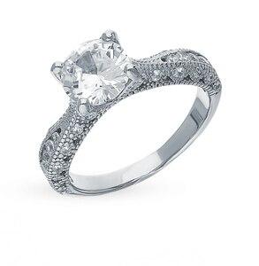 Серебряное кольцо с фианитами SUNLIGHT проба 925 проба