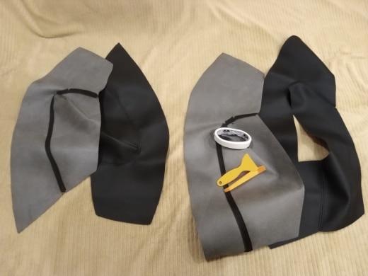 -- microfibra painel guarnição