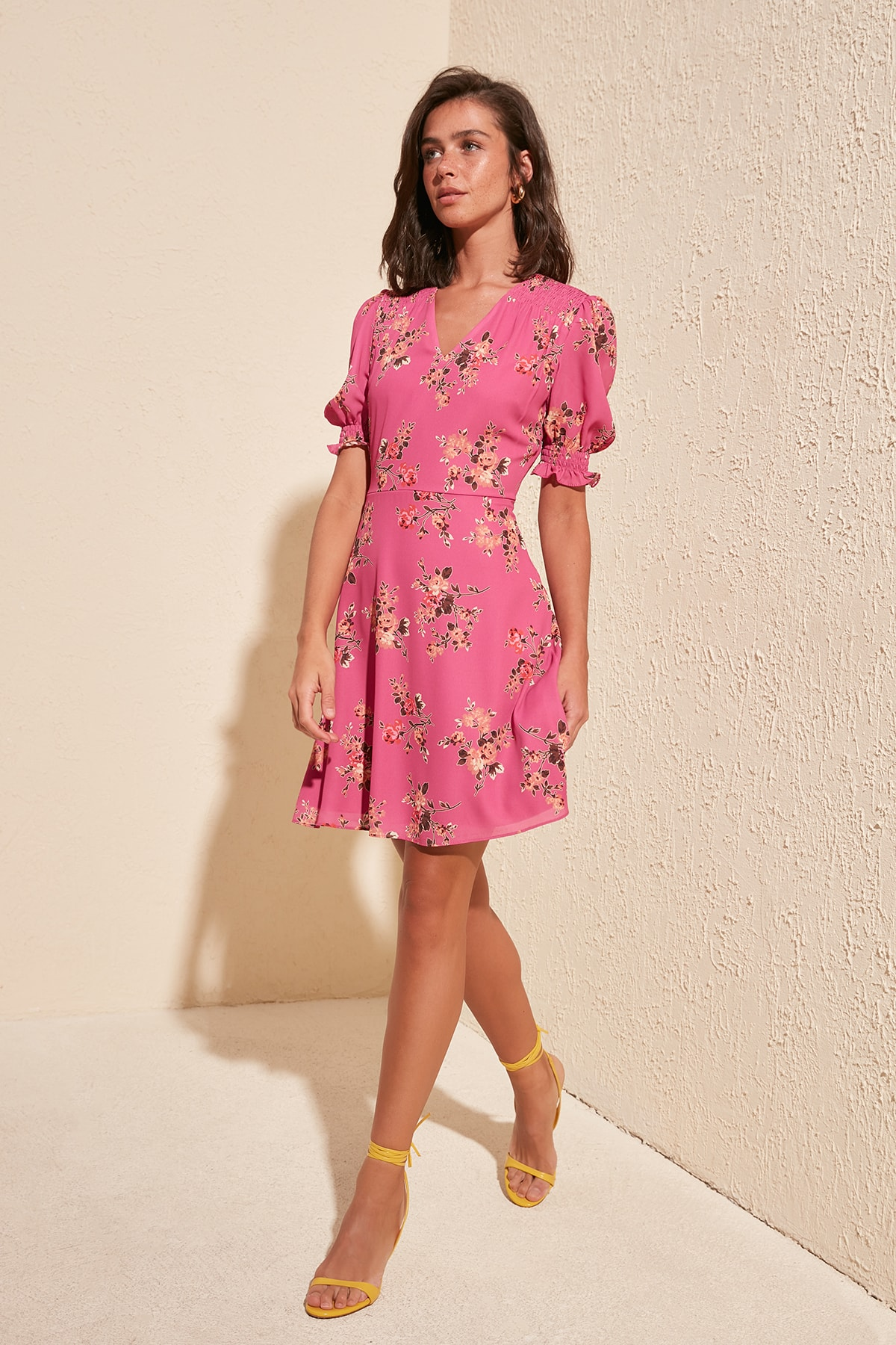Trendyol Flower Decorated Dress TWOSS20EL1553