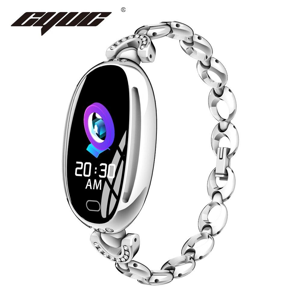 CYUC E68 Lady Smart Watch Heart Rate Monitor IP67 Waterproof Sport Fitness Women Bracelet 14 Days Standby Health Wristband