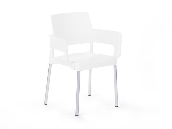 Chair HAVANA, Aluminum, Polypropylene White *