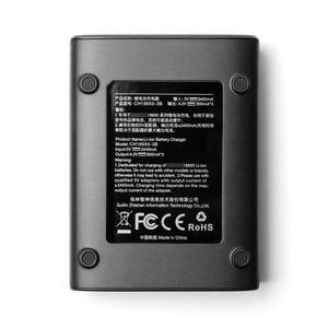 Image 3 - ZHIYUN cargador de batería oficial 18650, 3 ranuras para batería 18650 para grúa 2, estabilizador de mano, cardán, Color negro