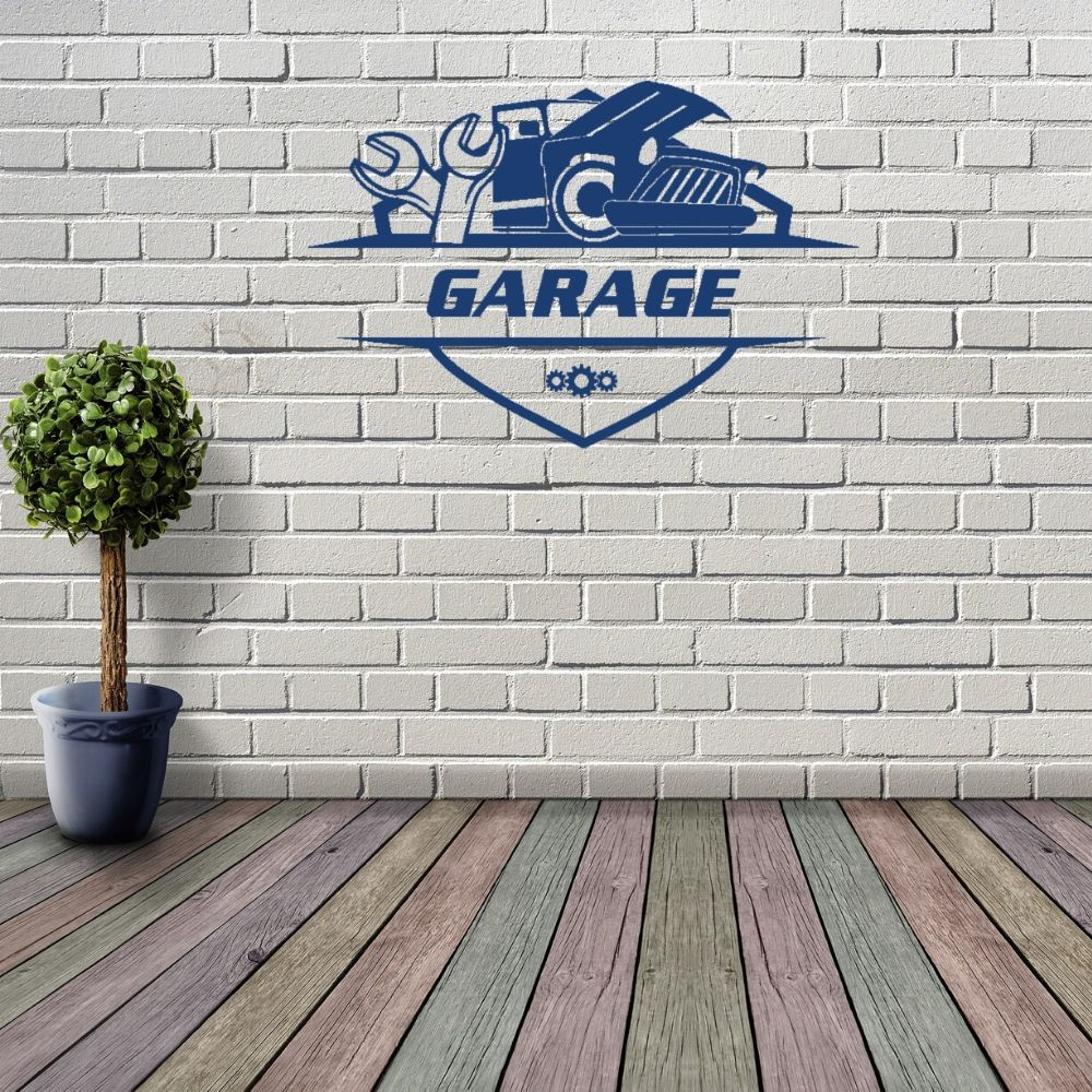 <font><b>Retro</b></font> Classic Garage <font><b>Wall</b></font> <font><b>Stickers</b></font> Car Services Decal For Garage Decoration A001121 image