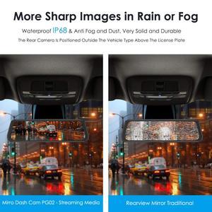 "Image 3 - AZDOME PG02 Night Vision Car Dvr Camera Rearview 10"" Streaming Media Mirror Video Recorder Camcorder Dash Cam FHD 1080P dual len"