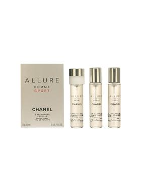 CHANEL ALLURE HOMME SPORT Eau de Toilette vaporizador refills 3 x 20...