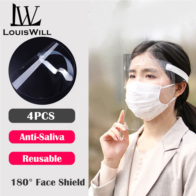 Protective Face Shield 180°Face Protection Isolation Shield Anti-Fog Splash Oil-Splash rain-proof Face Shield Anti-Saliva